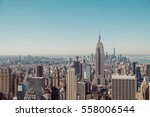new york city skyline with... | Shutterstock . vector #558006544