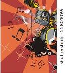 music instrument background... | Shutterstock .eps vector #55801096