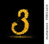 beautiful card with number 3... | Shutterstock .eps vector #558011614