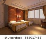 3d rendering bed room   Shutterstock . vector #558017458