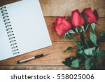 Red Roses  Leather Notebook ...
