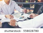 businessman showing his new... | Shutterstock . vector #558028780