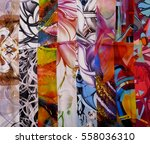 photo silk fabric. silk scarf... | Shutterstock . vector #558036310