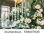flower decoration with candles   Shutterstock . vector #558037030