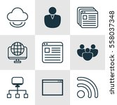 set of 9 web icons. includes...
