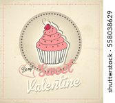 valentines day vector card | Shutterstock .eps vector #558038629