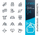 lineo   love and valentine's... | Shutterstock .eps vector #558044074