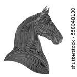 Stock vector horse head 558048130