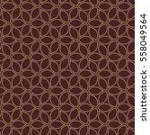 seamless brown and golden... | Shutterstock .eps vector #558049564