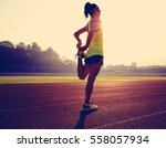 young fitness woman runner... | Shutterstock . vector #558057934