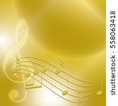 golden music background with... | Shutterstock .eps vector #558063418