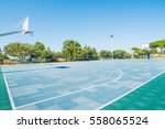basketball court in cagliari ... | Shutterstock . vector #558065524