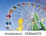 colorful ferris wheel in the... | Shutterstock . vector #558066070