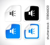 vector square stickers | Shutterstock .eps vector #55806820
