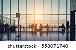 Silhouette Of A Airport At...