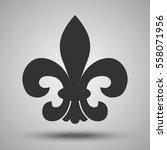 fleur de lis. french royal... | Shutterstock .eps vector #558071956