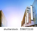 blank white vertical banners on ... | Shutterstock . vector #558072133