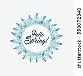 vector floral frame | Shutterstock .eps vector #558072340