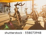 modern gym interior with... | Shutterstock . vector #558073948