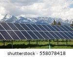 solar panels on solar power...   Shutterstock . vector #558078418