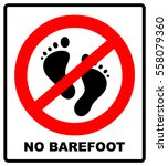 no barefoot sign. red... | Shutterstock .eps vector #558079360