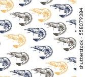 vector seamless pattern of... | Shutterstock .eps vector #558079384