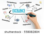 hand writing excellence with... | Shutterstock . vector #558082804