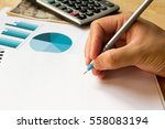 note book with  calculator ... | Shutterstock . vector #558083194