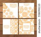 vector set of business cards... | Shutterstock .eps vector #558098110