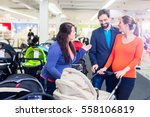 woman  man  and sales lady in...   Shutterstock . vector #558106819