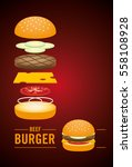 illustration components of beef ... | Shutterstock .eps vector #558108928