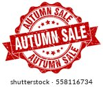 autumn sale. stamp. sticker.... | Shutterstock .eps vector #558116734
