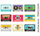 cassette tape collection | Shutterstock .eps vector #558121654