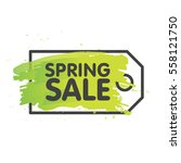 spring sale tag concept in... | Shutterstock .eps vector #558121750