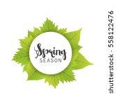 spring season letter and green... | Shutterstock .eps vector #558122476
