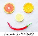 Orange Background Lemon