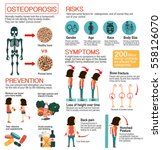 osteoporosis info graphic ... | Shutterstock .eps vector #558126070