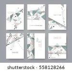 set of artistic universal cards.... | Shutterstock .eps vector #558128266