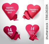 valentine's day vector... | Shutterstock .eps vector #558130204