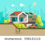 green energy and eco friendly... | Shutterstock .eps vector #558131113