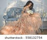 fashionable portrait of... | Shutterstock . vector #558132754
