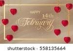 happy valentines day romantic... | Shutterstock .eps vector #558135664