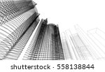 architecture abstract  3d... | Shutterstock . vector #558138844