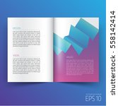 brochure template layout  cover ... | Shutterstock .eps vector #558142414
