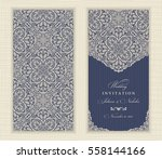 wedding invitation cards in an... | Shutterstock .eps vector #558144166
