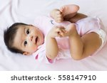 cute and happy asian baby. | Shutterstock . vector #558147910