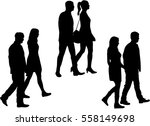 group of people. crowd of... | Shutterstock .eps vector #558149698