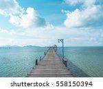 Wooden Bridge In The Open Sea...