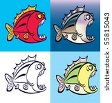 fish | Shutterstock .eps vector #55815043