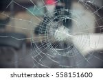 broken glass for background... | Shutterstock . vector #558151600